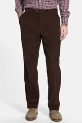 Linea Naturale Washed Corduroy Relaxed Fit Pants Brown