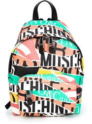 Moschino Logo Collage Backpack