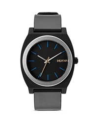 Nixon The Time Teller Buckle Strap Watch 40Mm Midnight