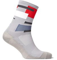 Chpt. 1.51 Colour Block Performance Cycling Socks Gray
