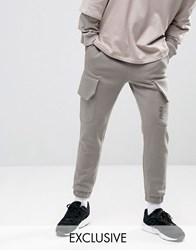 Puma Skinny Cargo Joggers In Grey Exclusive To Asos Grey