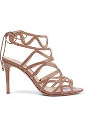 Alexandre Birman Nim Patent Leather Sandals Mushroom