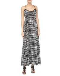 Greylin Ikat Print Maxi Dress Black