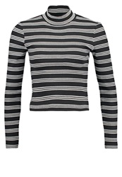 All About Eve Long Sleeved Top Black White