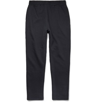 A.P.C. Fleece Back Cotton Blend Jersey Sweatpants Blue