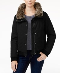 Levi's Faux Fur Trim Bomber Jacket Black