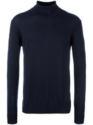 Norse Projects Roll Neck Jumper Blue