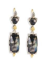 Konstantino Cassiopeia Doublet Spectrolite 18K Yellow Gold And Sterling Silver Drop Earrings Multi