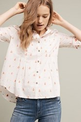 Maeve Miette Embroidered Shirt Blue Blue Motif