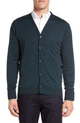 John Smedley Men's 'Bryn' Easy Fit Wool Button Cardigan Racing Green