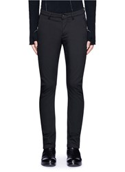 Attachment Slim Fit Cotton Twill Pants Black