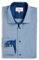 Ted Baker Men's Big And Tall London Trim Fit Check Dress Shirt