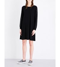 The White Company Sequin Embellished Wool Dress Black