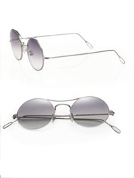 Kyme Ros 49Mm Round Sunglasses Silver