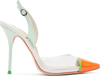 Sophia Webster Mint Patent Leather And Vinyl Daria Heels