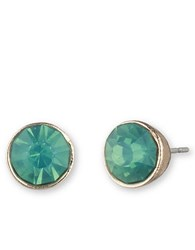 Lonna And Lilly Goldtone Aquamarine Stud Earrings Green