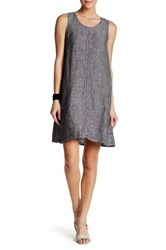 Max Studio Sleeveless Linen Shift Dress Black