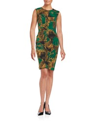 Nipon Boutique Keyhole Sheath Dress Evergreen