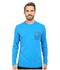 Mountain Hardwear River Gorge L S Crew Dark Compass Men's Long Sleeve Pullover Blue
