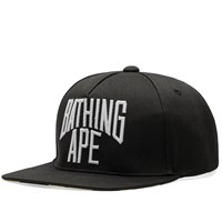 A Bathing Ape Nyc Logo Snapback Cap Black
