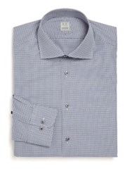 Ike Behar Regular Fit Houndstooth Dress Shirt
