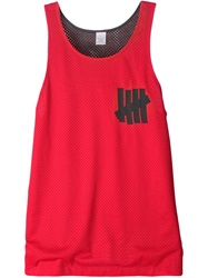 Undefeated 'Reverse B Ball' Mesh Vest Red