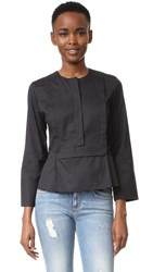 Carven Long Sleeve Blouse Black