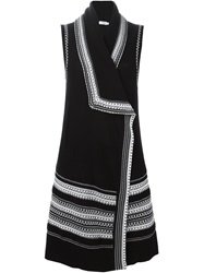 Vince Long Sleeveless Cardigan Black