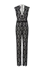 Monique Lhuillier V Neck Jumpsuit Black
