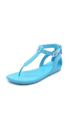 Hunter Original T Bar Sandals Sky Blue