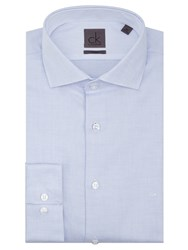 Ck Calvin Klein Chevron Tailored Fit Shirt Blue White