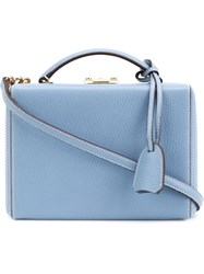Mark Cross 'Grace' Small Box Bag Blue
