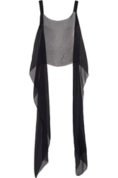 Esteban Cortazar Silk Chiffon Wrap Top