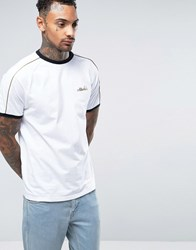 Ellesse T Shirt With Gold Piping White
