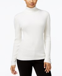 Styleandco. Style Co. Petite Ribbed Turtleneck Sweater Only At Macy's Winter White