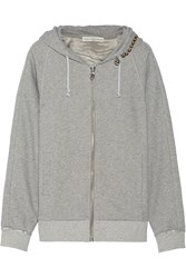 Golden Goose Embellished Cotton Jersey Hooded Top