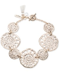 Lonna And Lilly Gold Tone Openwork Disc Link Bracelet