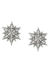 Louise Et Cie Small Starburst Pave Stud Earrings Silver