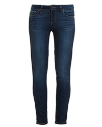 Paige Cropped Alanis Skinny Jeans Dark Blue Denim