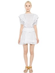 Etoile Isabel Marant Ruffled Cotton Gauze And Lace Dress