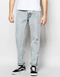 Cheap Monday Jeans Work Denim Tapered Fit Stone Grey Light Wash Grey