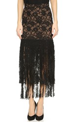Alexis Romina Lace Maxi Skirt Black Lace