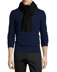 Theory Hubell Textured Wool Scarf Black