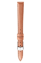 Michele 12Mm Leather Watch Band Rose Gold