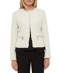 Ted Baker Jasina Boucle Jacket Cream