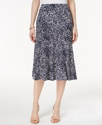 Jm Collection Petite Printed A Line Skirt Only At Macy's Intrepid Cheetah