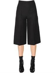 Valentino Cropped Wool And Silk Crepe Couture Pants