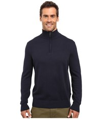 Nautica 9 Gauge 1 4 Zip Sweater Navy Men's Sweater