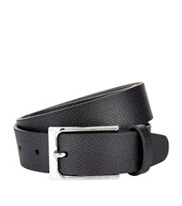 Boss Saffiano Slim Buckle Belt Unisex Black