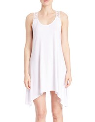 J Valdi Crochet Accented Tank Dress Coverup White